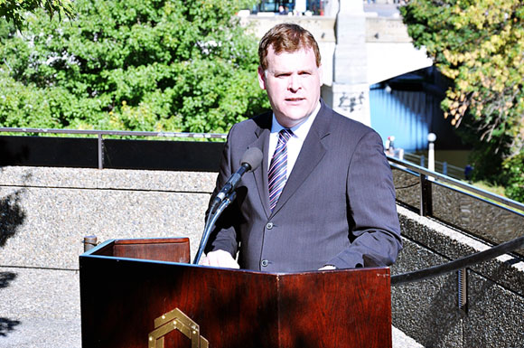 The Honourable John Baird, Canada's Foreign Affairs Minister, attends the National Arts Centre Concert of Hope and Remembrance in Ottawa on September 11, 2011.