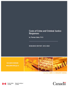 independent and dependent variables in criminal justice research