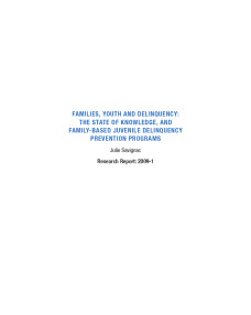 delinquency juvenile papers term Search resources available from the office of juvenile justice and delinquency prevention by topic.