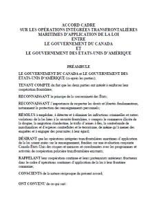 Accord cadre sur les op rations int gr es for Sur la table application