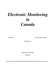 Electronic Monitoring in Canada