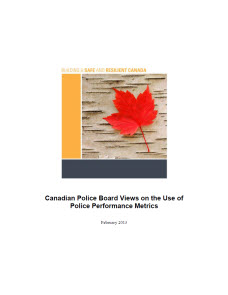 Canadian Police Board Views on the Use of Police