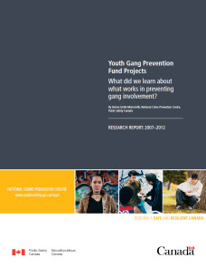 Youth Gang Prevention Fund Projects : What Did We Learn ...